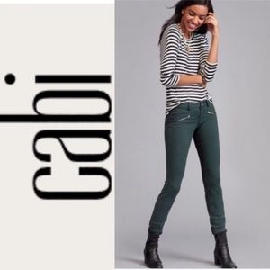 CAbi Jeans Zip Skinny Hunter Green